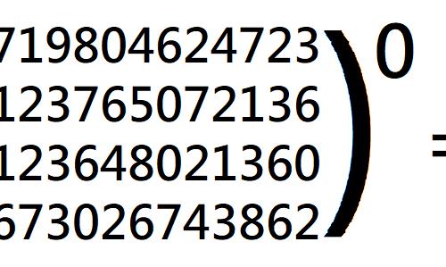 Qualsiasi numero elevato a zero fa uno: un esempio veloce