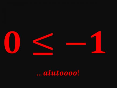 """Risultato di una disequazione senza """"x"""". Cosa significa?"""
