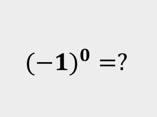 L'insidioso caso di un numero negativo elevato a zero