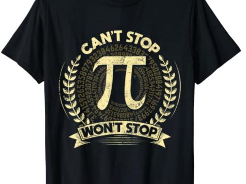 Magliette da NERD matematici a tema Pi Greco