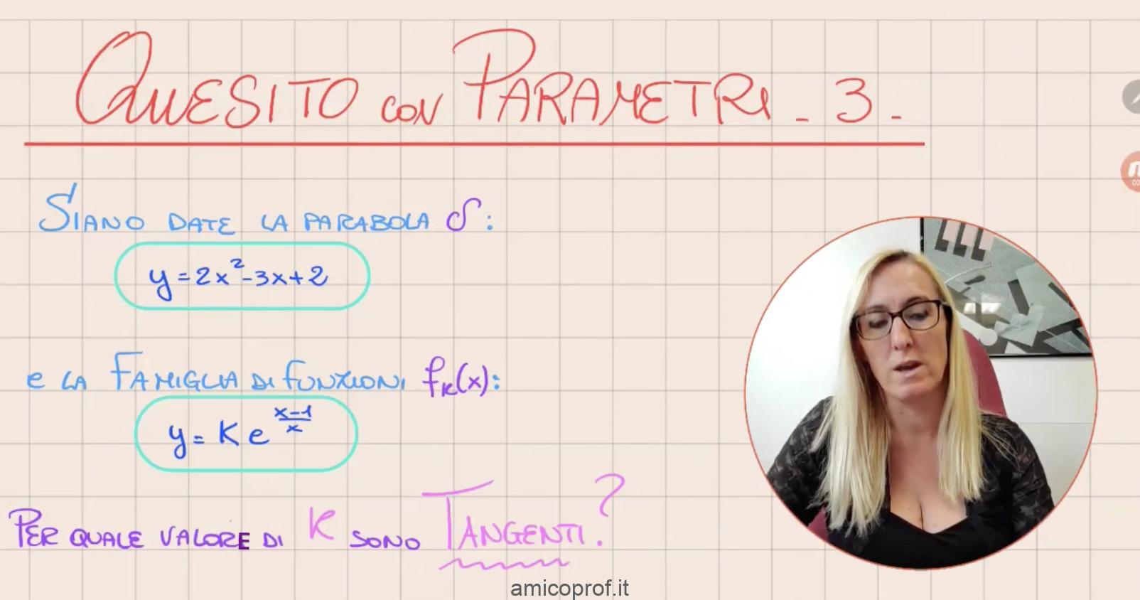 Videospiegazione di un esercizio di maturità: quesito matematico sulla parabola con parametro k